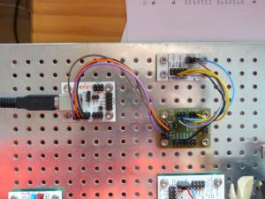 An example of connecting the SPI module version to PC.